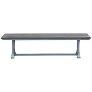 Two-Tone Trestle Dining Bench
