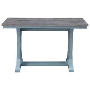 Two-Tone Counter Height Dining Table