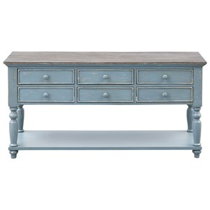 Coastal 6-Drawer Console Table