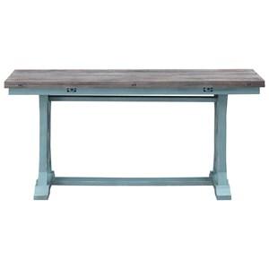 Coastal Two-Toned Fold Out Console Table