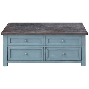 Coastal 2-Drawer Lift Top Cocktail Table
