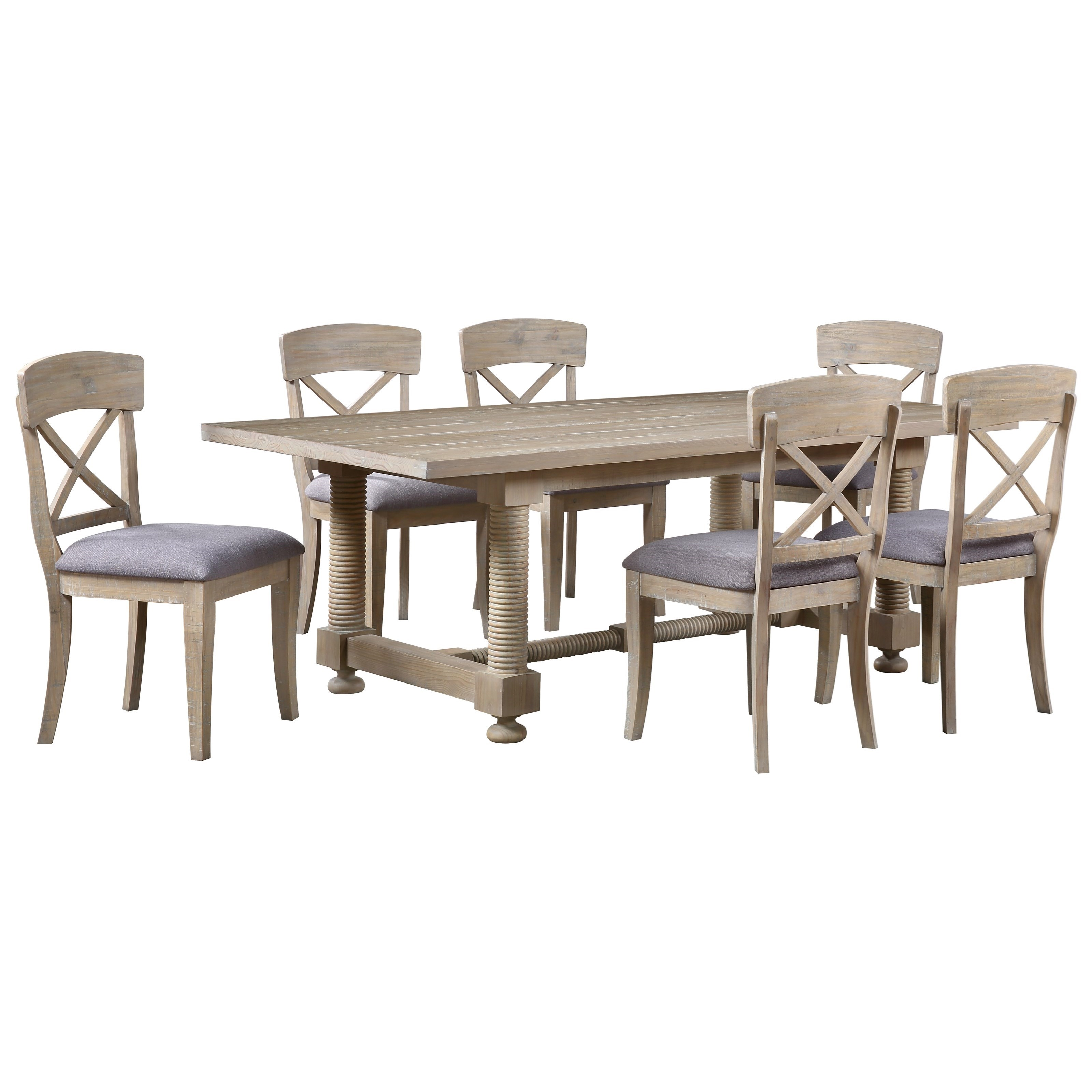 Barrister 7-Piece Table and Chair Set by C2C at Walker's Furniture