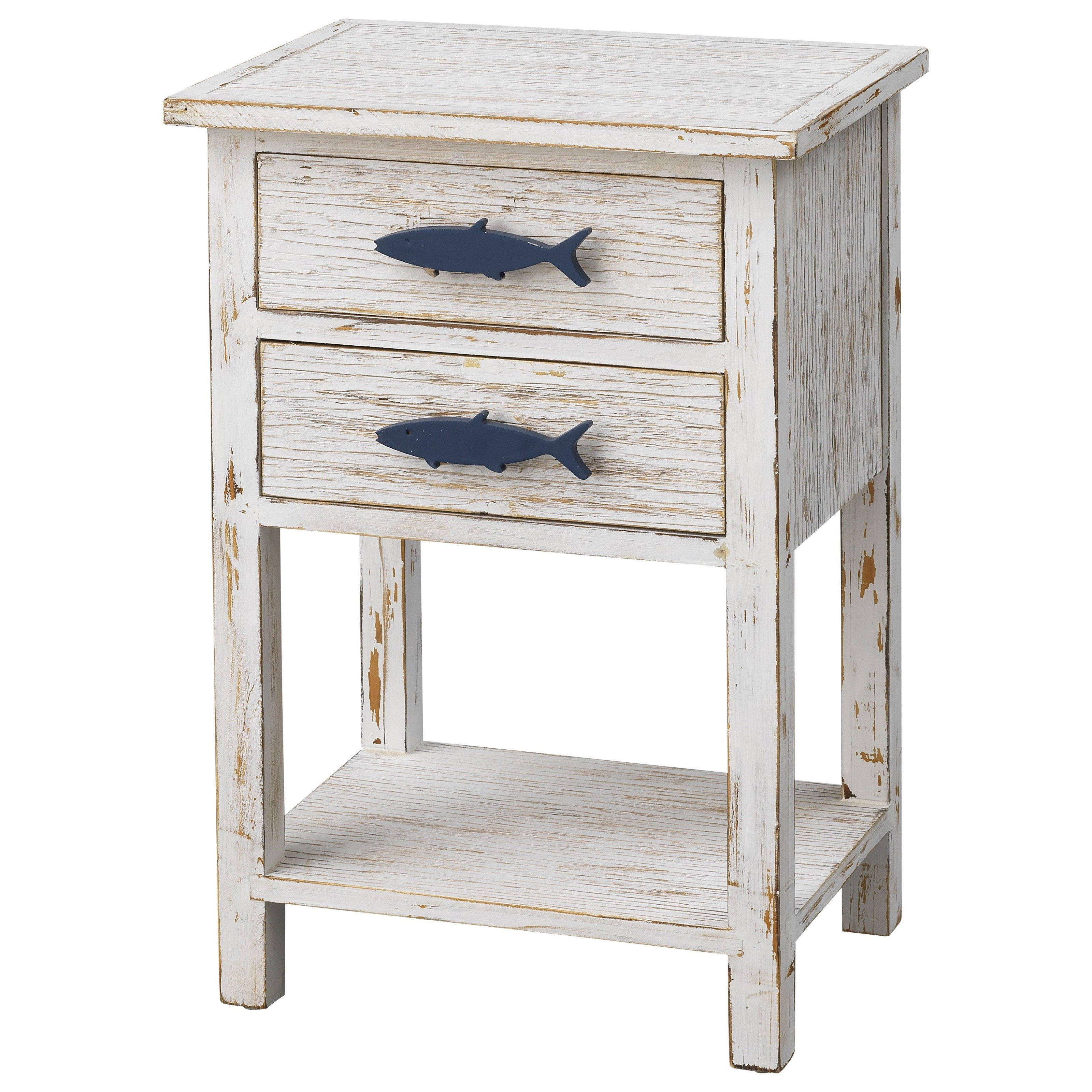 Pieces in Paradise 2-Drawer Accent Table by Coast to Coast Imports at Zak's Home