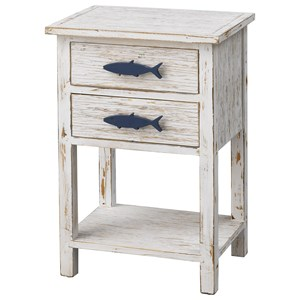 Coastal 2-Drawer Accent Table