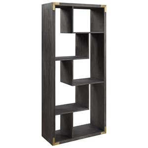 Contemporary 4 Shelf Etagere with Gold Accents