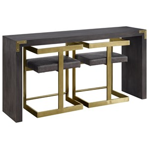Contemporary Console Table with Two Stools
