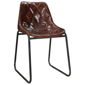 Mid-Century Modern Dining Side Chair with Diamond Stitched Upholstery 2-Pack