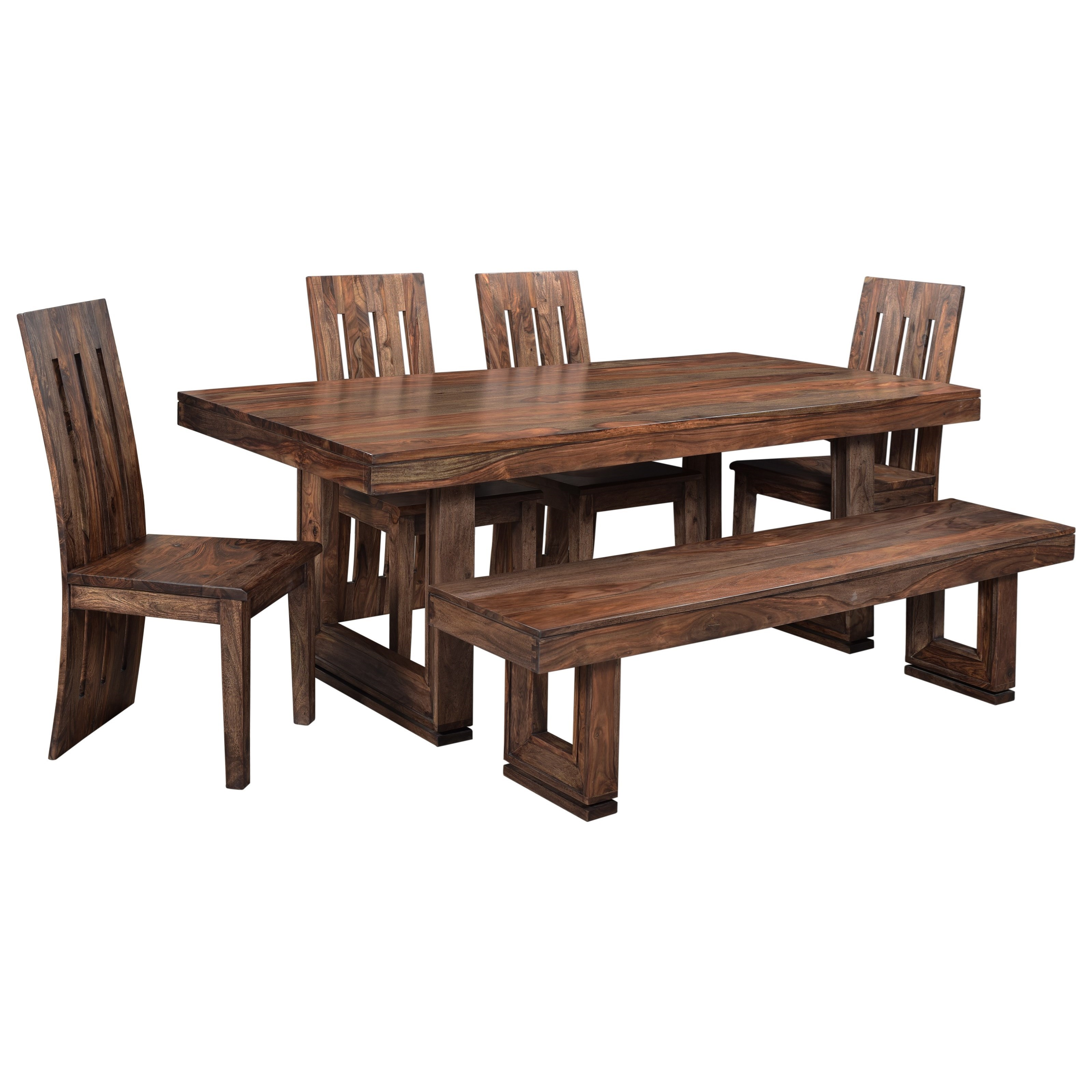 Gilliam Table and Chair Set with Bench by C2C at Walker's Furniture