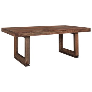 Rustic Dining Table With Beveled Legs