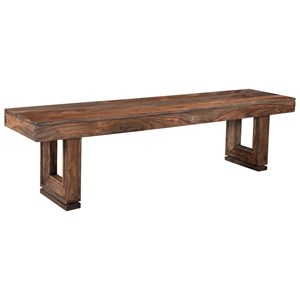 Dining Bench With Beveled Legs