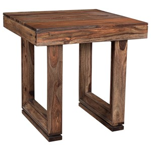End Table With Beveled Legs