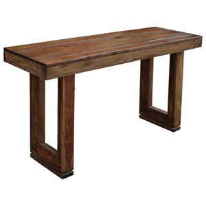 Console Table With Beveled Legs