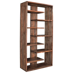 Bookcase with Offset Shelves