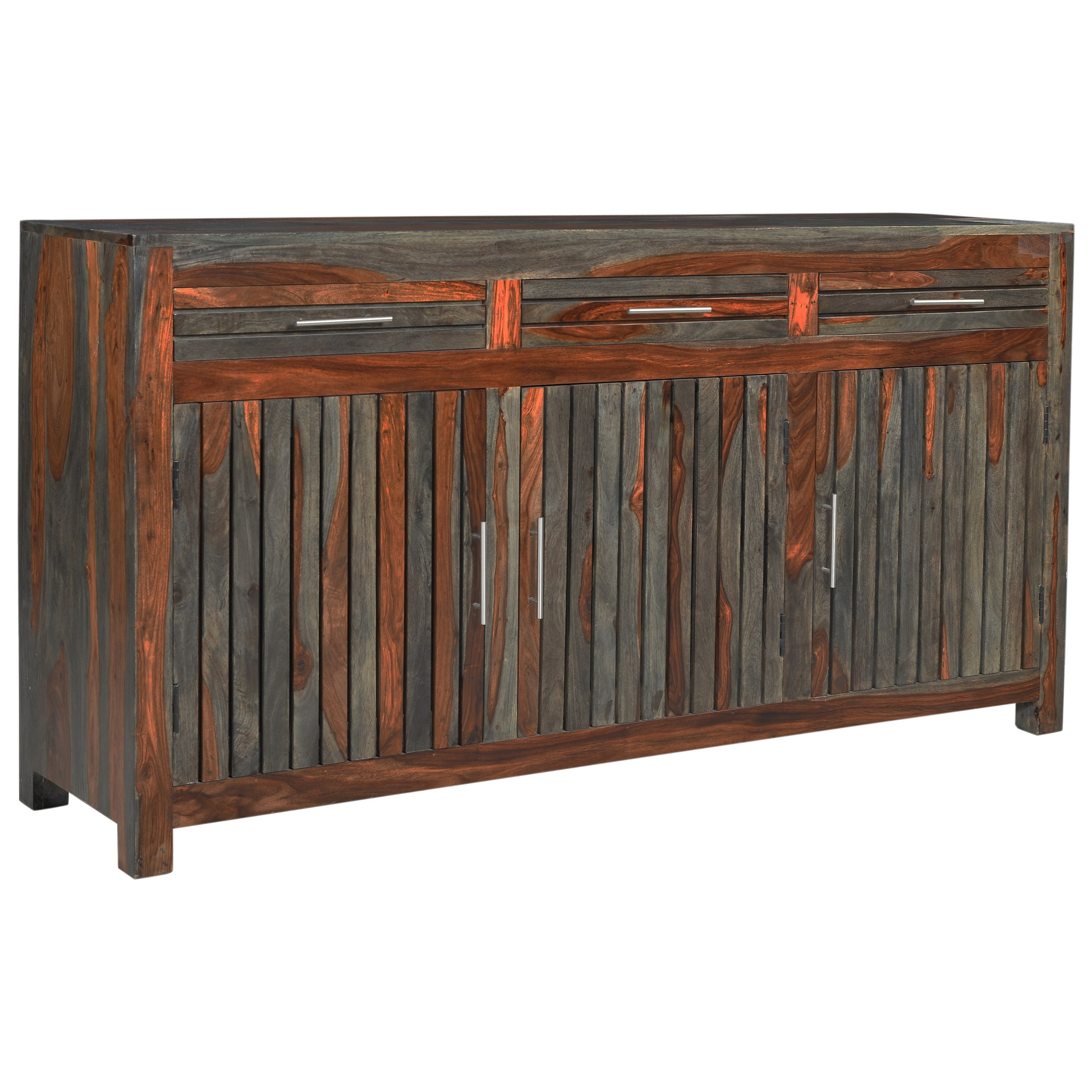 Capri Three Door Three Drawer Credenza by Coast to Coast Imports at Baer's Furniture