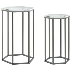 Coast to Coast Imports Coast to Coast Accents Set of Two Nesting Tables