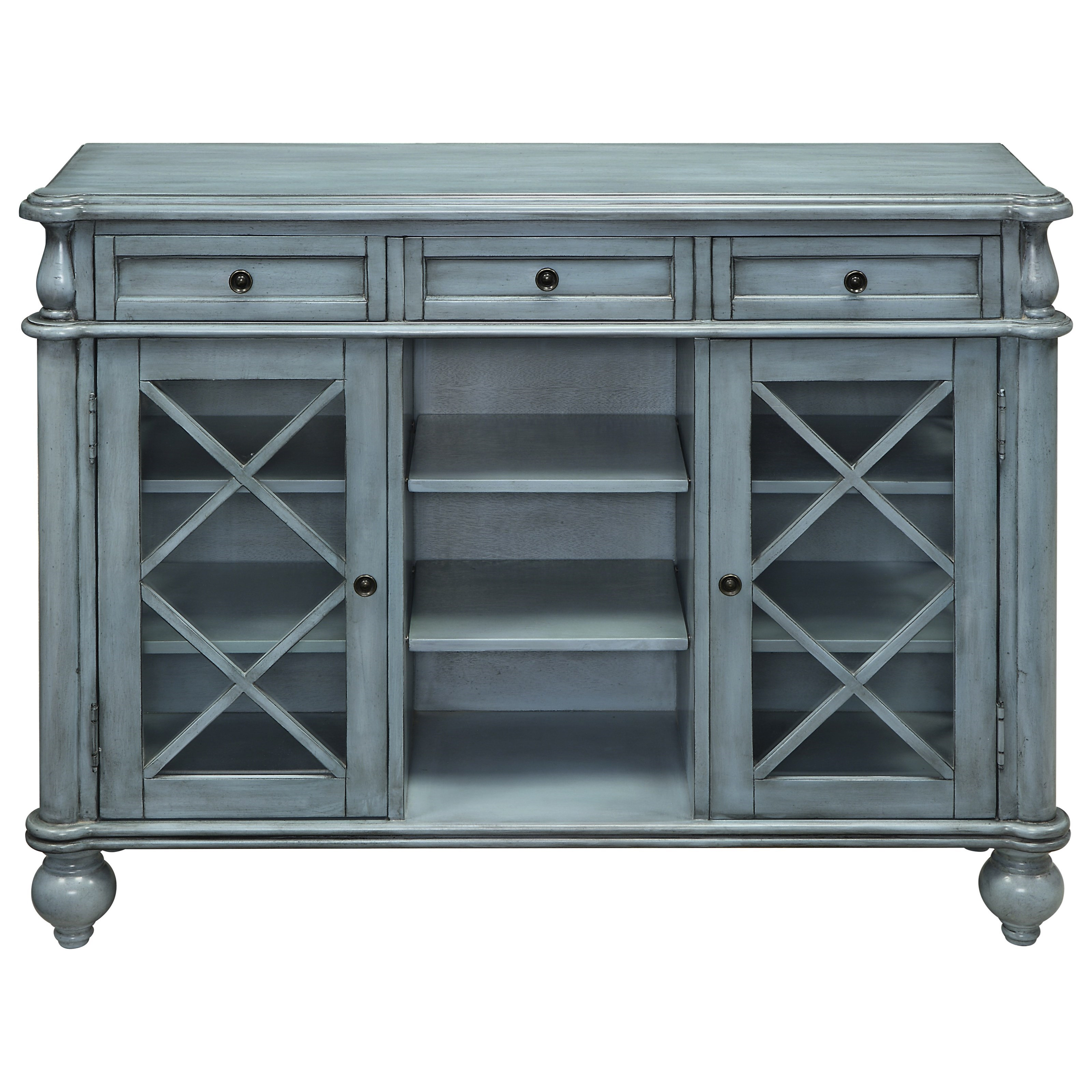 Coast to Coast Accents Three Drawer Two Door Credenza by Coast to Coast Imports at Baer's Furniture