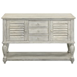 Three Drawer Two Door Console