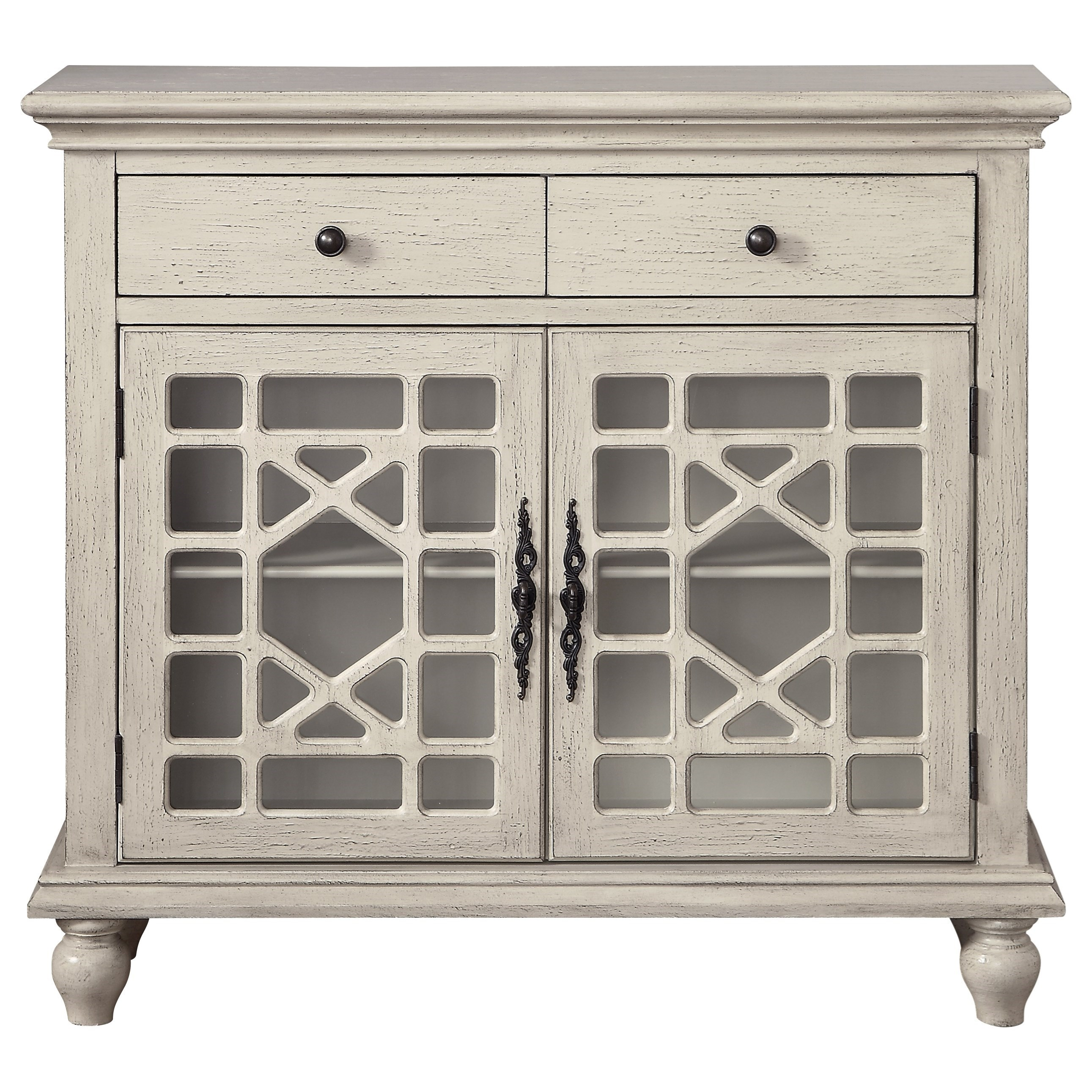Coast to Coast Accents Two Drawer Two Door Cabinet by Kaleidoscope at Sprintz Furniture