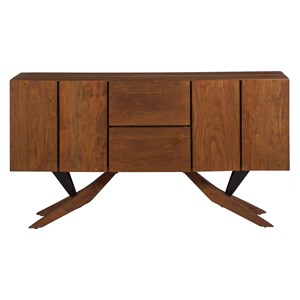 Two Drawer Two Door Credenza