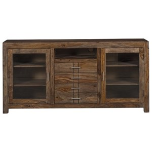 Rustic 4 Drawer 2 Door Media Center