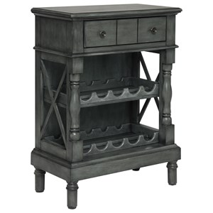 One Drawer Wine Server/Bookcase