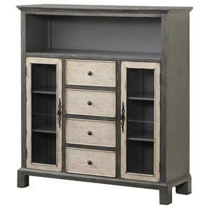 Two Door Four Drawer Media Cabinet