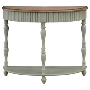 Transitional Demilune Console Table