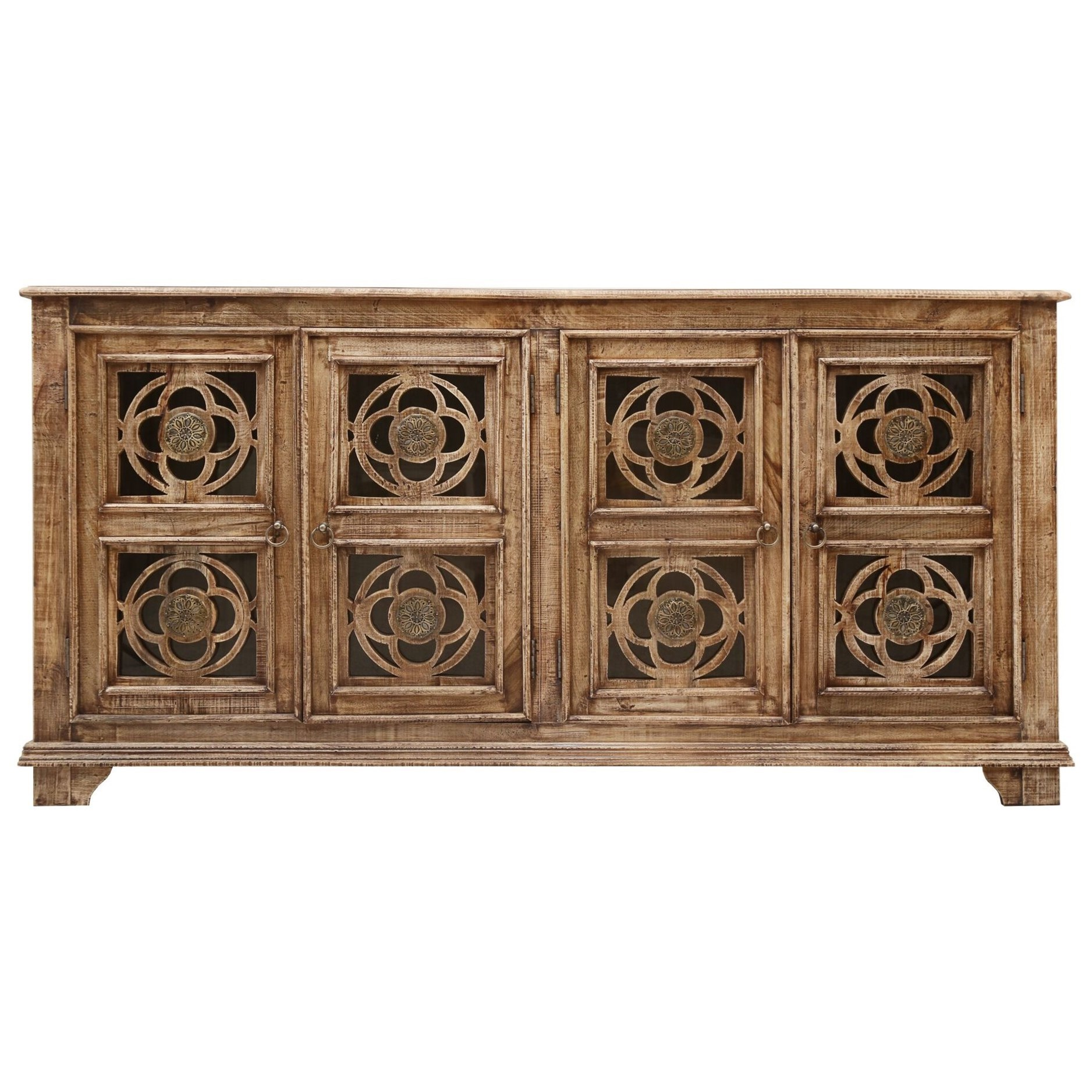 asdf 4-Door Media Credenza by Coast to Coast Imports at Zak's Home