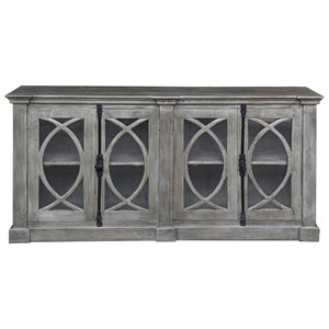 Transitional 4-Door Media Credenza
