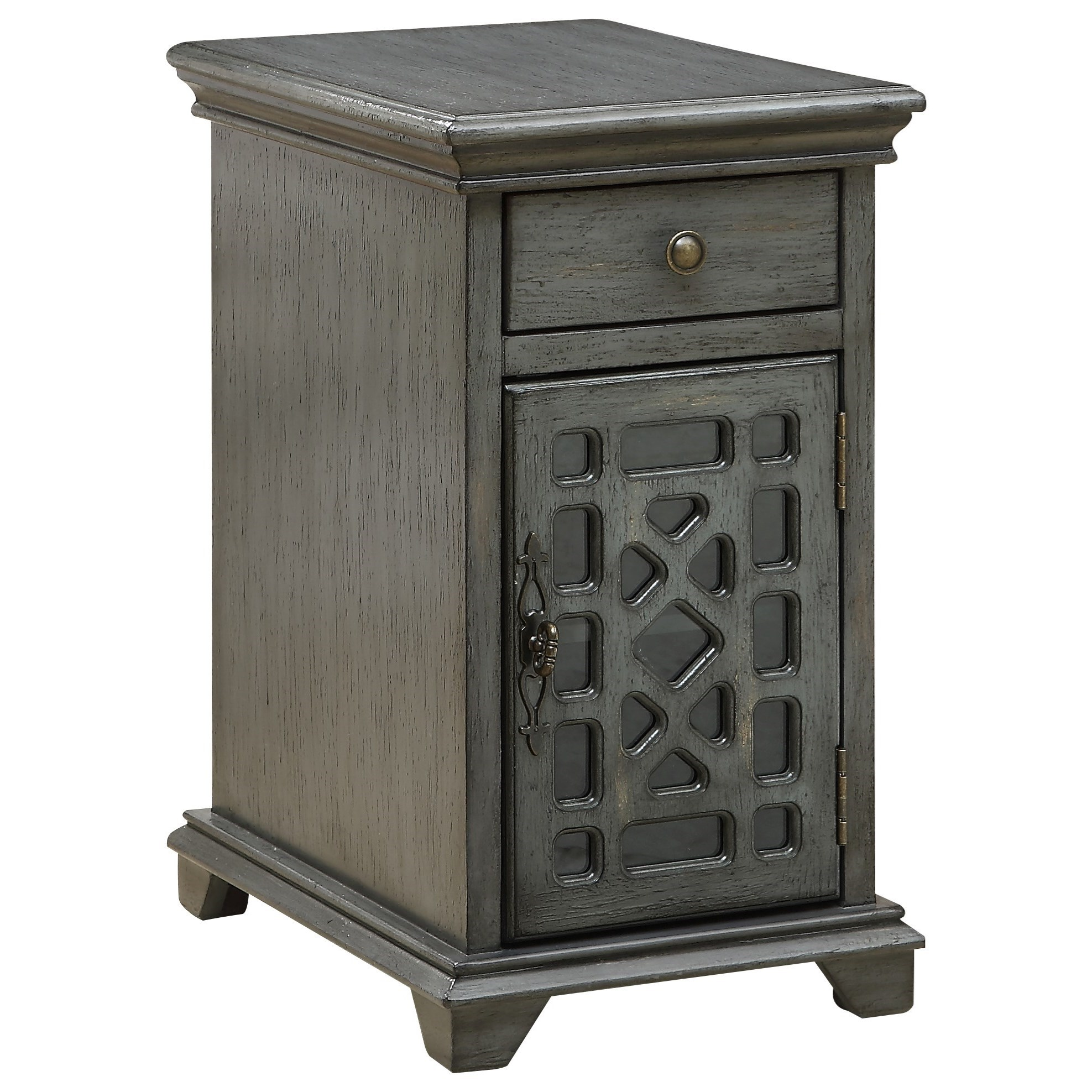Coast to Coast Accents One Drawer One Door Chairside Cabinet by Coast to Coast Imports at Johnny Janosik