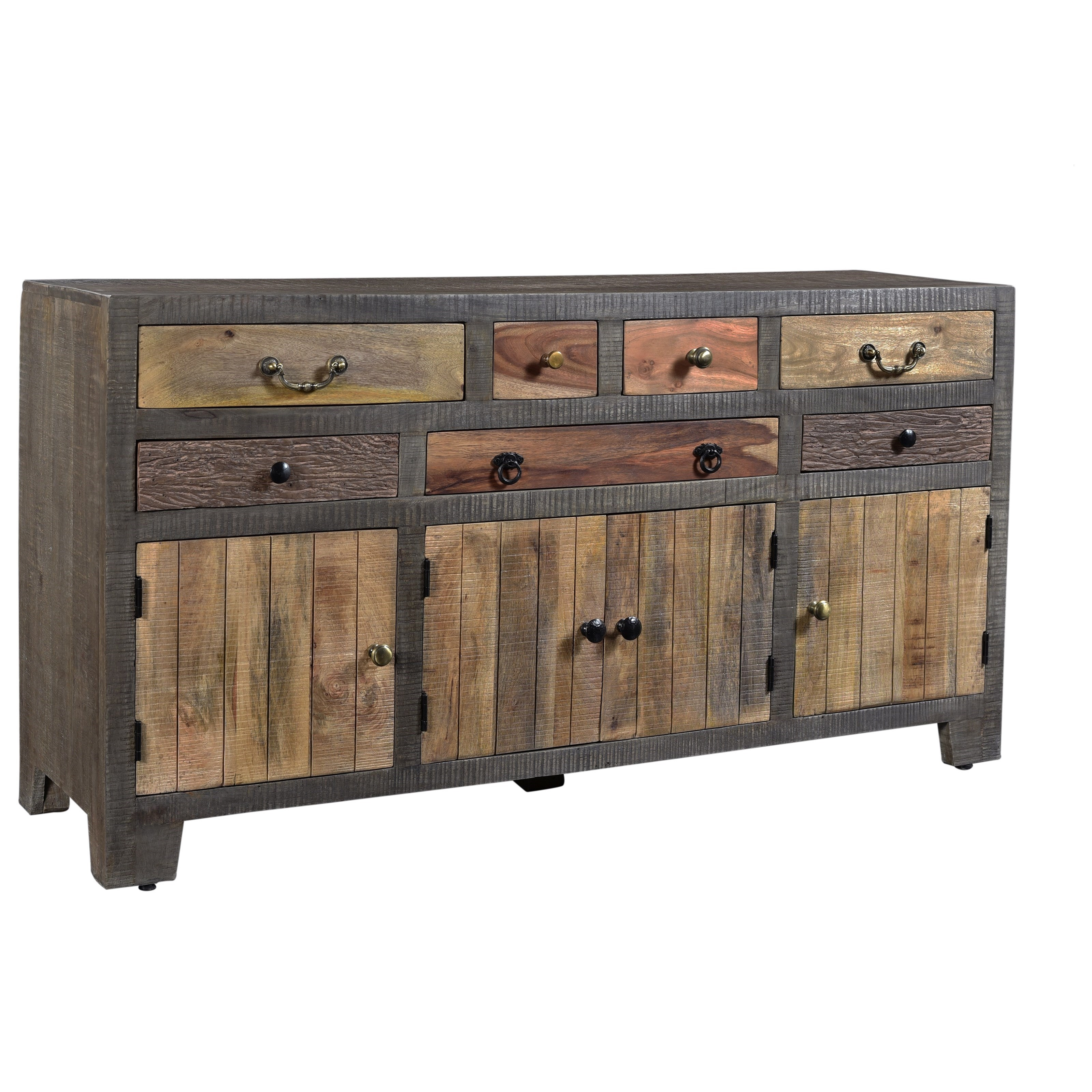 C2C Accents Seven Drawer Four Door Credenza by C2C at Walker's Furniture