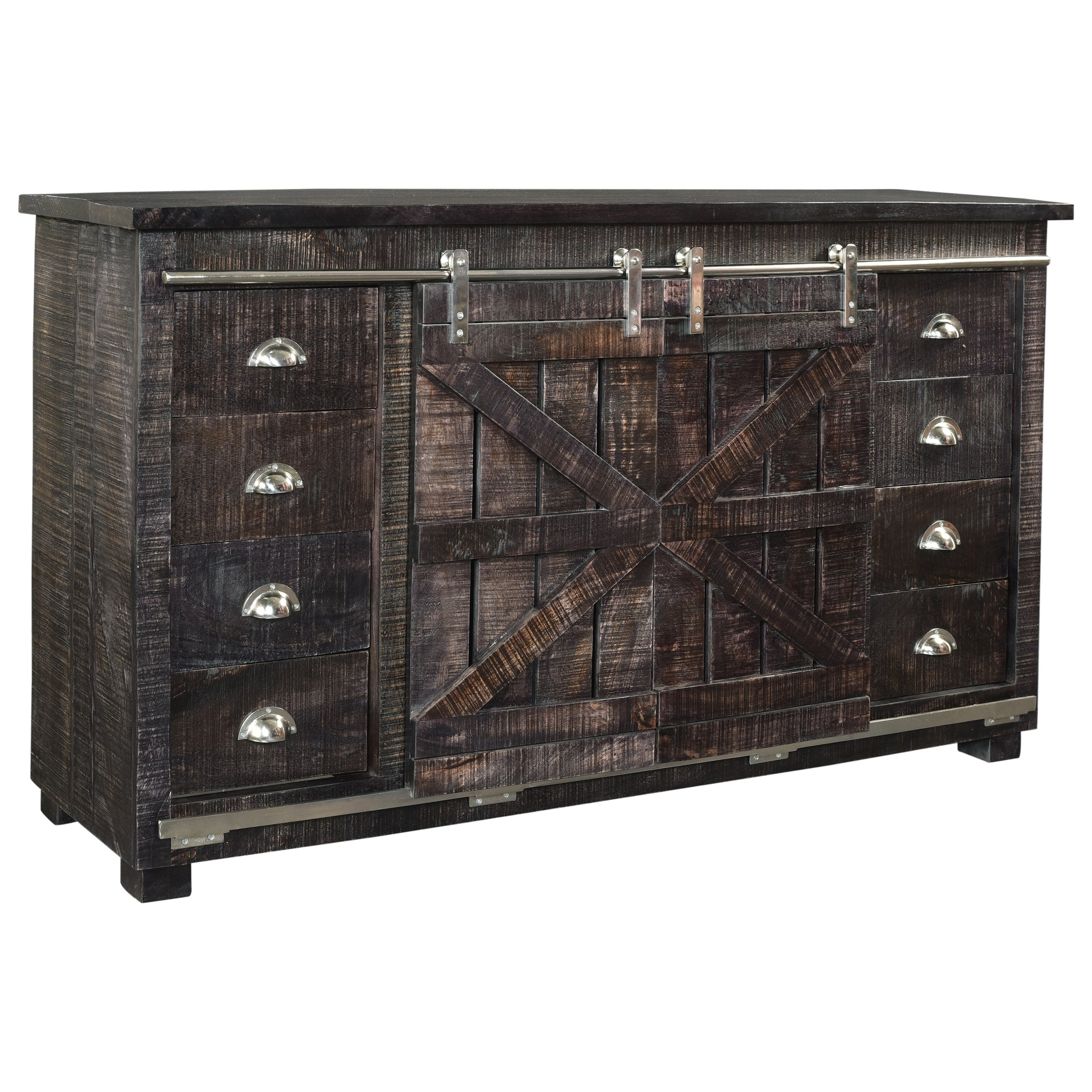 C2C Accents Eight Drawer Two Sliding Door Credenza by C2C at Walker's Furniture