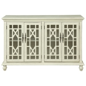 Transitional Four Door Media Credenza