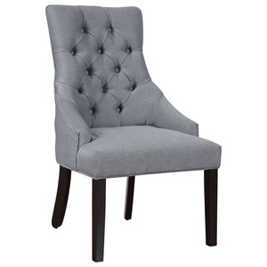 Dining Chair with Button Tufting and Nailhead Trim