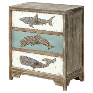 Coastal Three Drawer Accent Chest