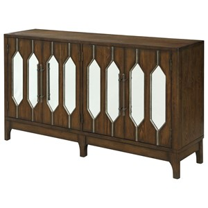Contemporary Four Door Media Credenza
