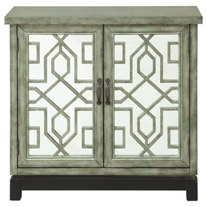 Transitional Two Door Cabinet