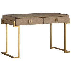 Contemporary Two Drawer Desk