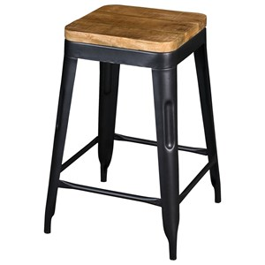 Industrial Counter-Height Stool