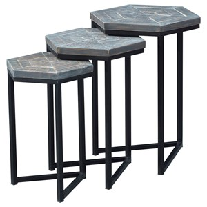 Contemporary Set of Three Nesting Tables
