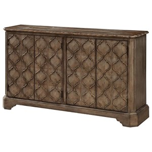 Traditional Four Door Media Credenza