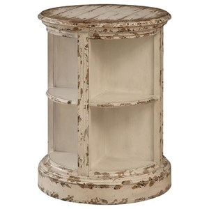Rustic Round Accent Table