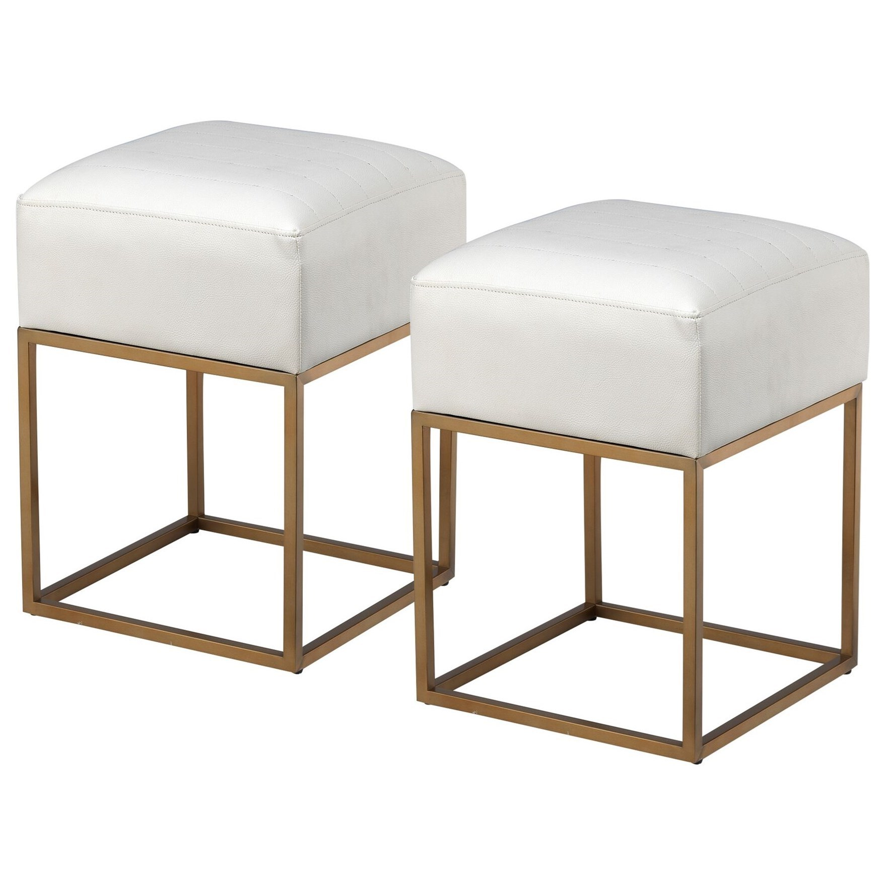 Coast to Coast Accents Set of Two Accent Stools by Coast to Coast Imports at Zak's Home