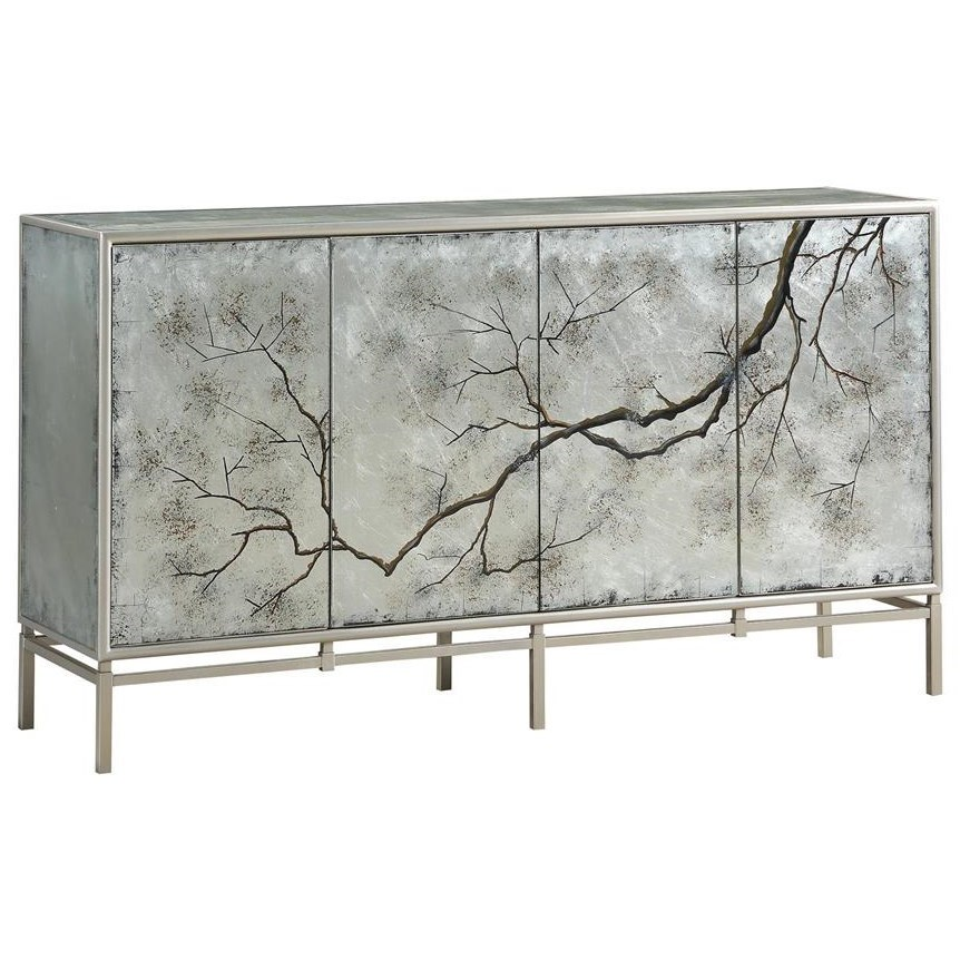 C2C Accents Four Door Media Credenza by C2C at Walker's Furniture
