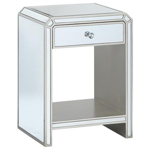 Contemporary One Drawer Chairside Table