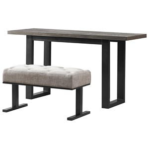 Contemporary Console Table with One Stool