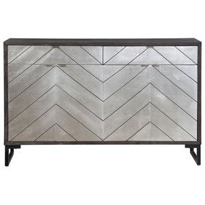 Contemporary Four Door Two Drawer Media Credenza