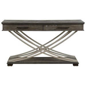 Contemporary Two Drawer Console Table