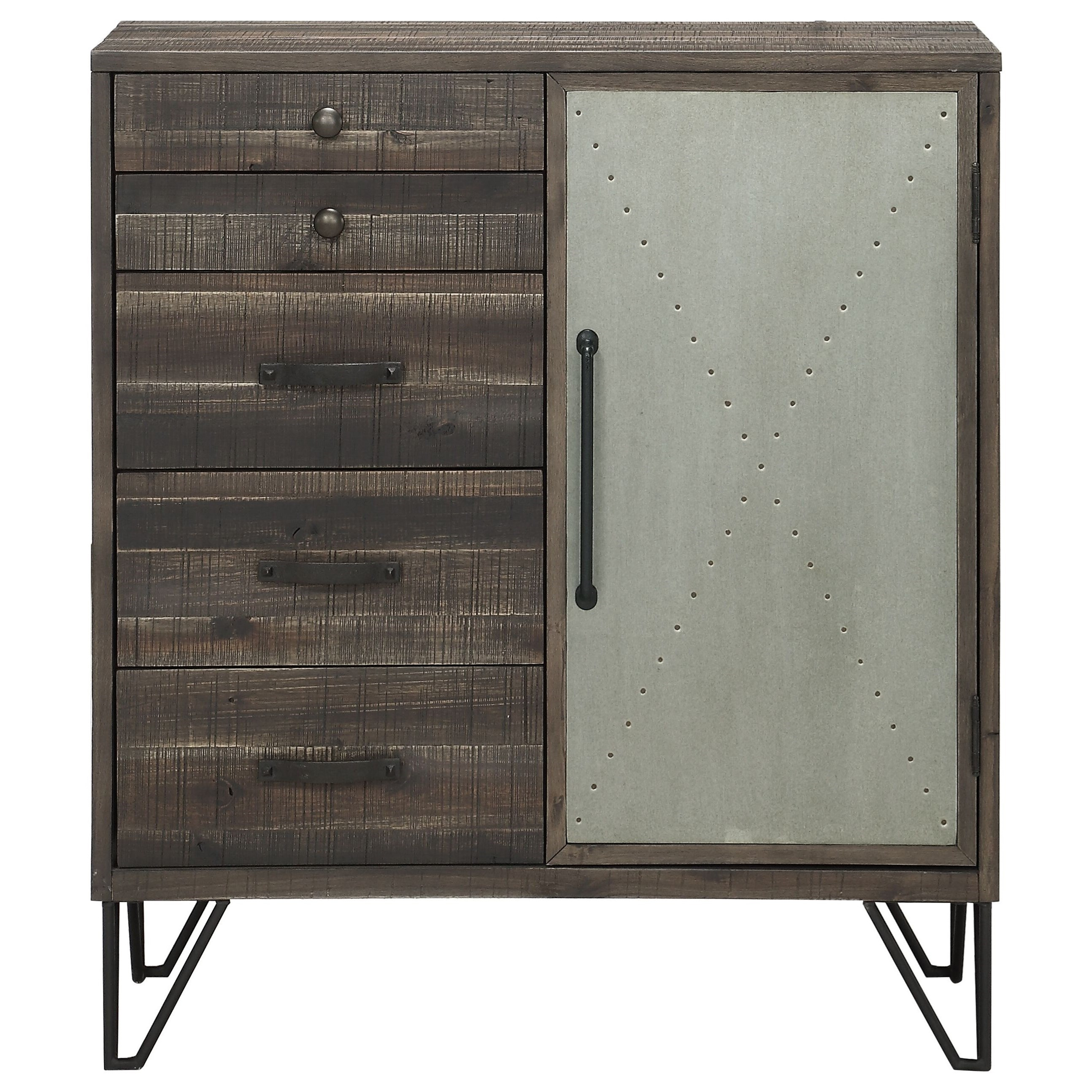 Coast to Coast Accents One Door Five Drawer Cabinet by Coast to Coast Imports at Baer's Furniture