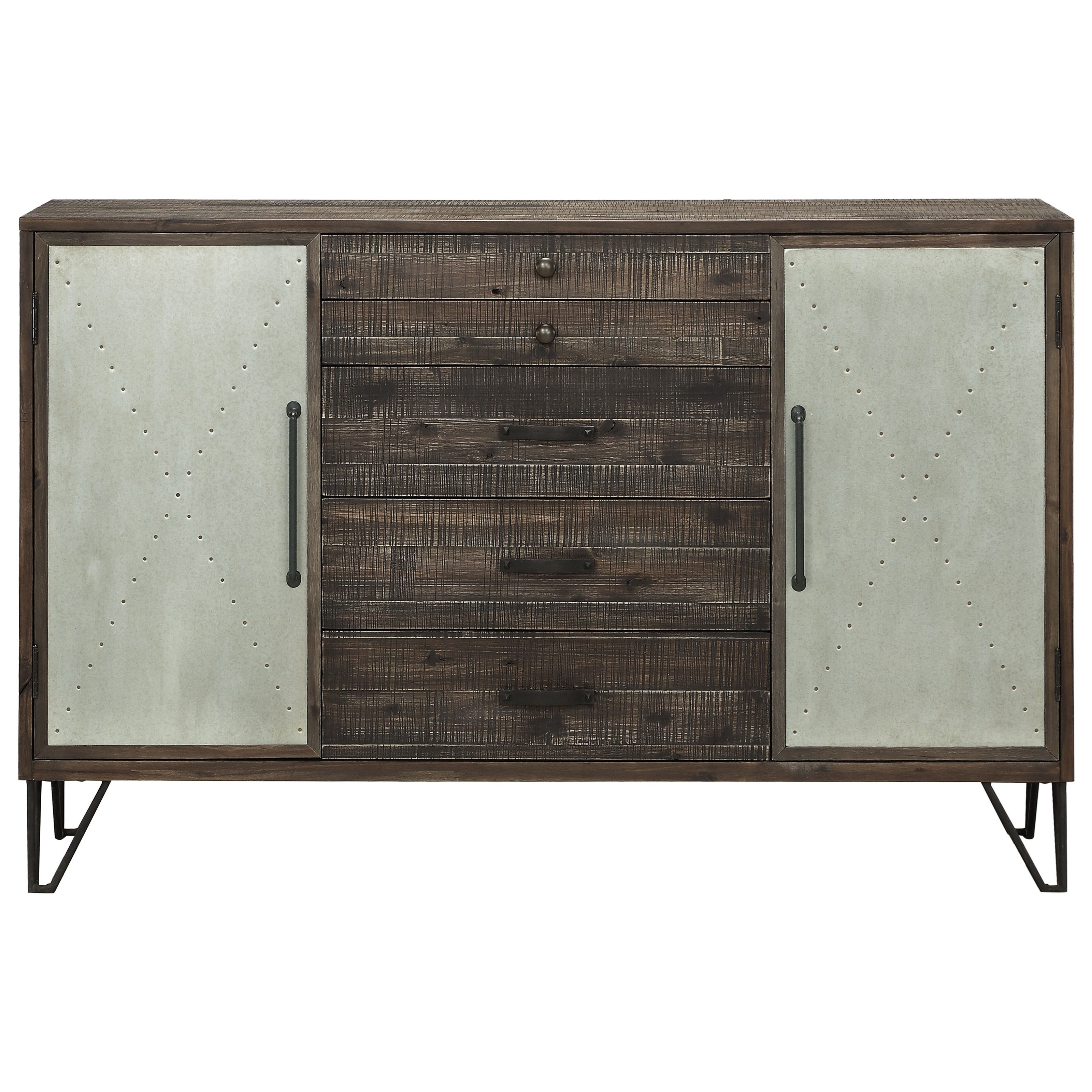 Coast to Coast Accents Two Door Five Drawer Credenza at Ruby Gordon Home